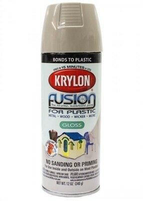 Krylon Fusion Plastic Paint 340gm - River Rock Gloss - AUS Seller