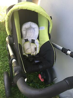 Britax Steelcraft Baby Capsule (Used- Lime Green)
