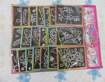 5Sheets X 20Sets Engraving Art Kits for Kid Assorted