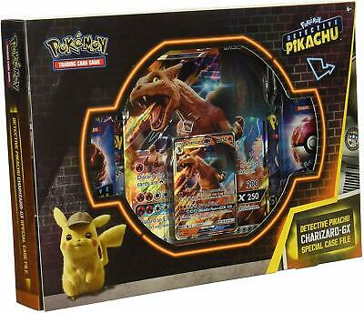 Pokemon TCG Charizard GX Box Detective Pikachu Special Case File 6 Packs + Promo