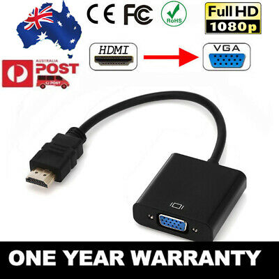 1080P HDMI Male to VGA Female Video Adapter Cable Converter Chipset Built-in