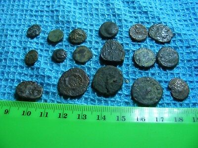 Lot of 17 good  Ancient  Roman Coins.....$320.00 Retail ..Plus 17 Coin Capsules.