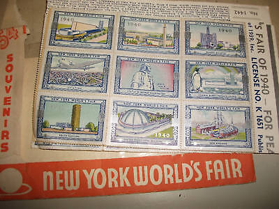 N.Y. World's Fair 1939-40, 108 Official  Poster Stamps