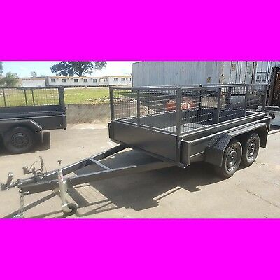 9x5 tandem trailer box trailer with cage heavy duty australian made 2000kgs 8x5