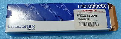 Wheaton 851303 Socorex Acura 841 Positive Displacement Micropipette