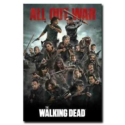 The Walking Dead Full Cast All Out War 12x18 24x16 inch TV Shows Silk Poster