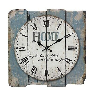 Rustic Vintage Wall Clock Home Decor Indoor Retro Roman Numeral Farmhouse 15 In.