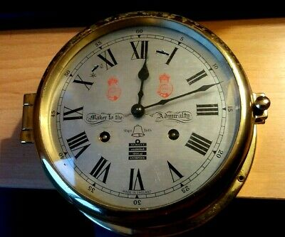 Sewells  Liverpool Makers To Admiralty Ships Bell Strike Clock 8 Day Spares