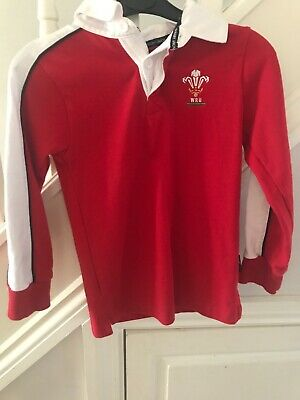 WELSH RUGBY SHIRT CHILDS AGE 6 YRS WALES CYMRU St David's Day