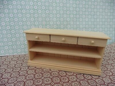 Dolls House Hand Made Miniature Furniture In 1/12 Scale 3 Drawer Unit