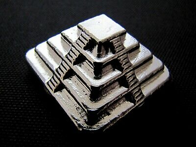 HACMint 5 oz 999+ Fine Silver PYRAMID Hand Poured ART BAR