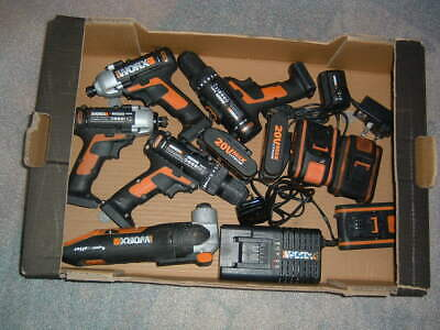 Joblot  Worx 20 v Cordless Power Tools, Spares Or Repairs