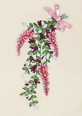Panna Ribbon Embroidery Kit - C-1168 Sweet Note - A beautiful bouquet