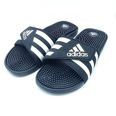 7e757ca44 New Adidas Adissage 078261 Men s Navy   White Flip Flops Sandals Slides  Size 11