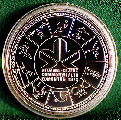 1978 CANADA $1 11th Commonwealth Games Edmonton commemorative silver dollar