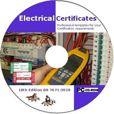 Electrical Certificates BS7671:2018 18th Edition