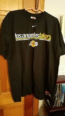 Vintage NIKE NBA LA Los Angeles Lakers Basketball T Shirt Men XL Retro NWT 9ffd07691f0b