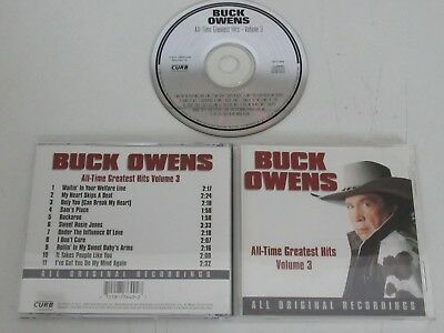 Buck Owens / all Time Greatest Hits Vol. 3 (Curb D2-77649) CD Album