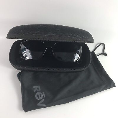 e0e220e103 Revo PAXTON Sunglasses 01 GY Shiny Black Graphite Lens 56MM Polarized RE1039