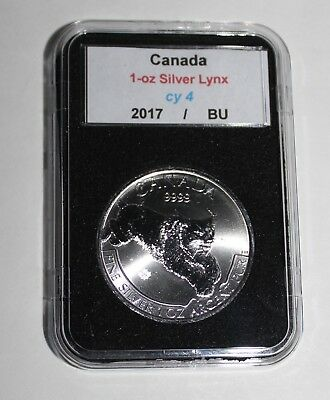 2017 Canada Fine Silver $5 Lynx 1 Oz. Bu Coin In Holder-Look Nr!