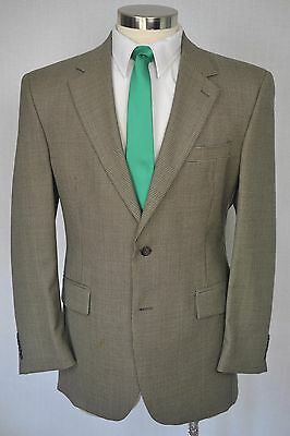 $595 Jos. A. Bank Men's Brown Check Wool Classic Pleated 2 Piece Suit 41R