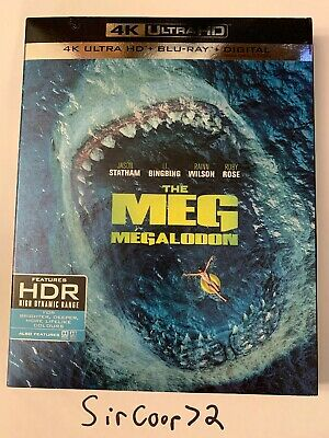 The Meg (4k Ultra Hd + Bluray) Brand New with SlipCover English/French