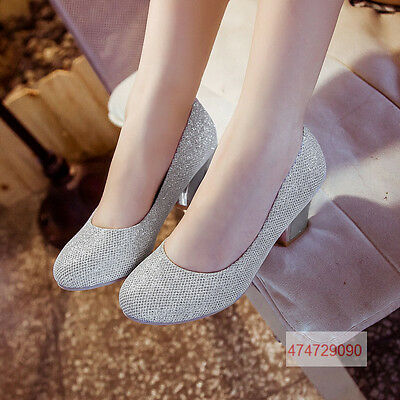 Hot Midheels Wedding Heels Pumps Girls Open Womens Ladies  Shoes YD1067