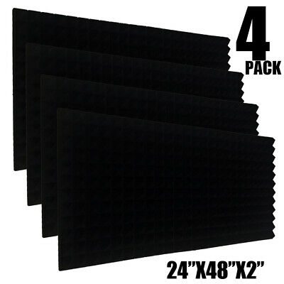 4 Pack Acoustic Foam Sound Absorption Pyramid Studio Treatment Wall Panels