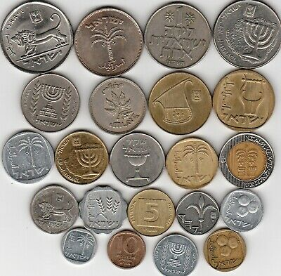 22 different world coins from ISRAEL