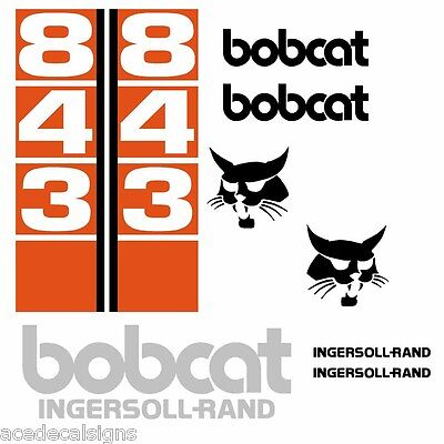 ANY MODEL Bobcat 843 843B 843 B DECALS Stickers Skid Steer loader New Repro Kit