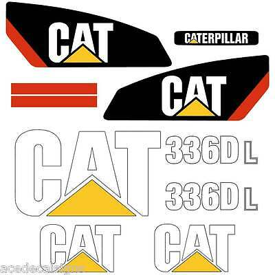 CAT 312D 313D 314D 315D 315D 319D 320D 324D 325D 330D Decals Stickers