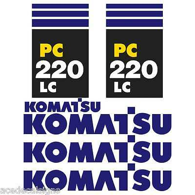 Komatsu PC220-7LC PC220-7 New Repro Excavator decals Stickers Kit