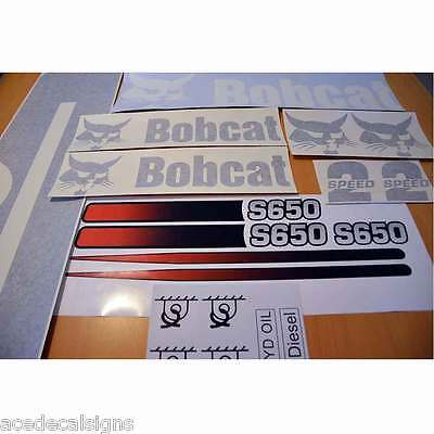 ANY MODEL S630 S650 S740 S750 S770 S850 A770 Bobcat Decals Stickers Skid Steer