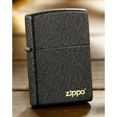 Black Crackle Rough Surface Matte 236 Zippo Lighter with logo - AU Shipping