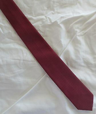 Fabulous deep red self-check skinny vintage tie