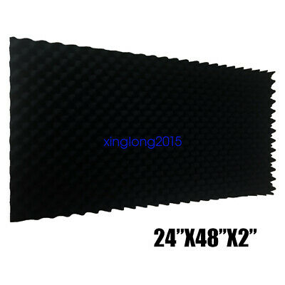 "1 PACK Acoustic Foam Egg Crate Panel Studio Foam Wall Panel 24""X48""X2"""