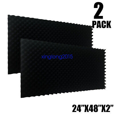 "2 PACK Acoustic Foam Egg Crate Panel Studio Foam Wall Panel 24""X48""X2"""