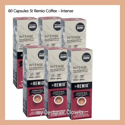 60 Capsules St Remio Intense Coffee Capsule Pod Caffitaly System Intensity 12