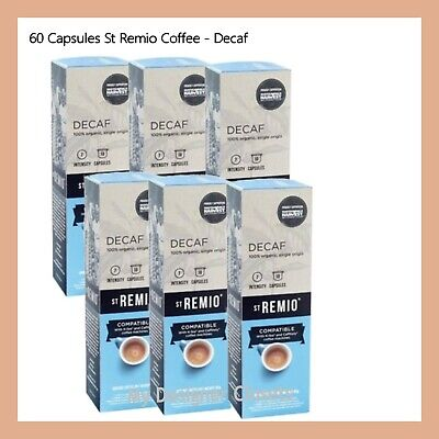 60 Capsules St Remio Decaf Coffee Capsule Pod Caffitaly System Intensity 7