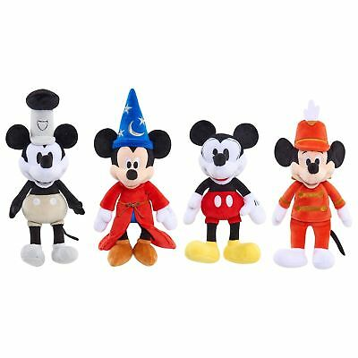 Disney Mickey Mouse 90ème Anniversaire 4 Peluche Mickeys