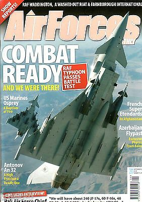 Air Forces Monthly Magazine 2008 September An32,Typhoon,RAAF Boeing 707,Etendard