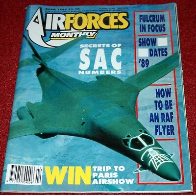 Air Forces Monthly Magazine 1989 April SAC,Denmark,Mig-29,Bloodhound,A-4 Skyhawk
