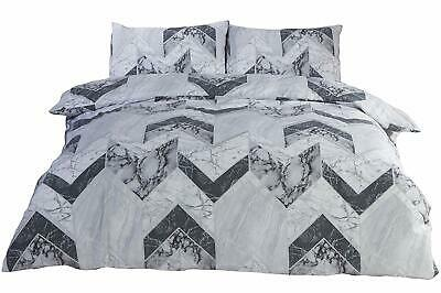 Bedding Heaven PALAZZO MARBLE EFFECT DUVET COVER SET - GREY