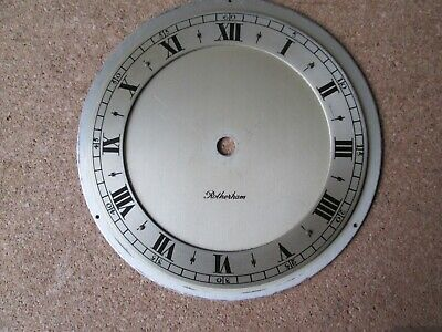A Rotherham Quality Timepeice Dial/chapter Ring Heavy Brass Dial Plate