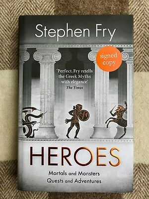 Signed Book - Heroes by Stephen Fry - Hardback 1st Edition 2018 - autograph