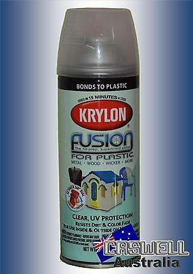 Krylon Fusion Plastic Paint 340gm - Clear UV Protection - AUS Seller