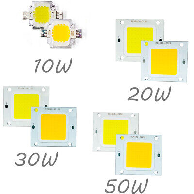 LED Chip DC 12V Cold/Warm White COB Lamp Bulb Diode DIY 10W-50W Panel Light
