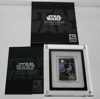 2017 Niue Fine Silver $2 Star Wars 40Th Anniversary A New Hope Color Proof Coin