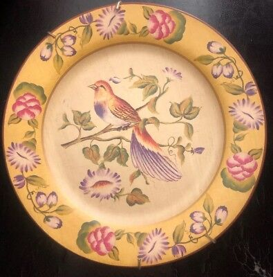 Large Vintage Decorative Plate With Flowers/bird Pattern-collectible Pottery