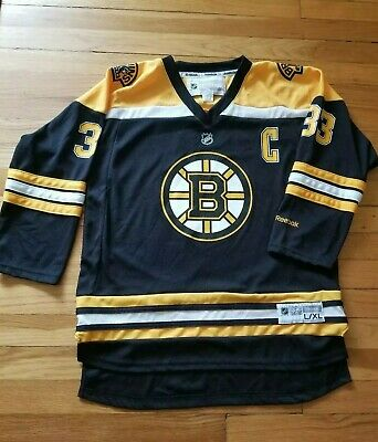 842d1ea7561 NHL Boston Bruins Reebok Black Jersey Youth L/XL Zdeno Chara #33 Stanley Cup